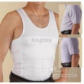 Men Slimming Vest Body Shaper vest corset sihrt Kymaro Spanx high quanlity black white SML XL